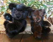Custom Order for Gene  ..  Two Jointed Mink Teddy Bears