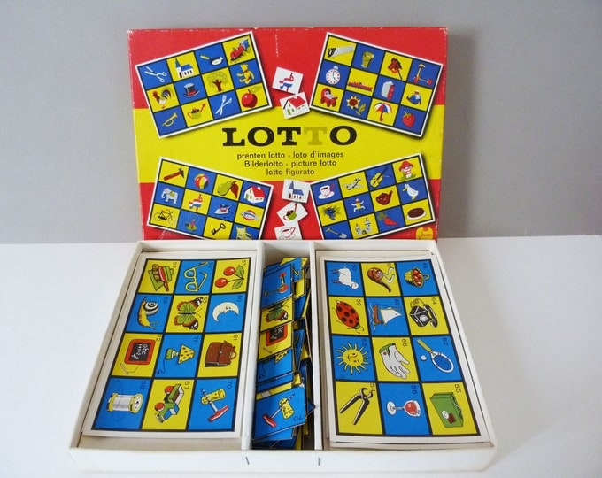 vintage picture lotto game by Jumbo of Holland