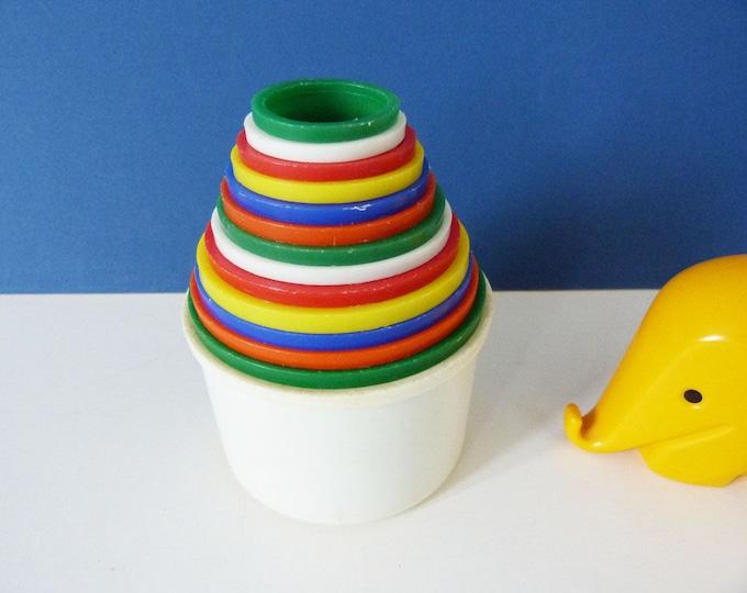 Vintage Ambi toys stacking pots 1963