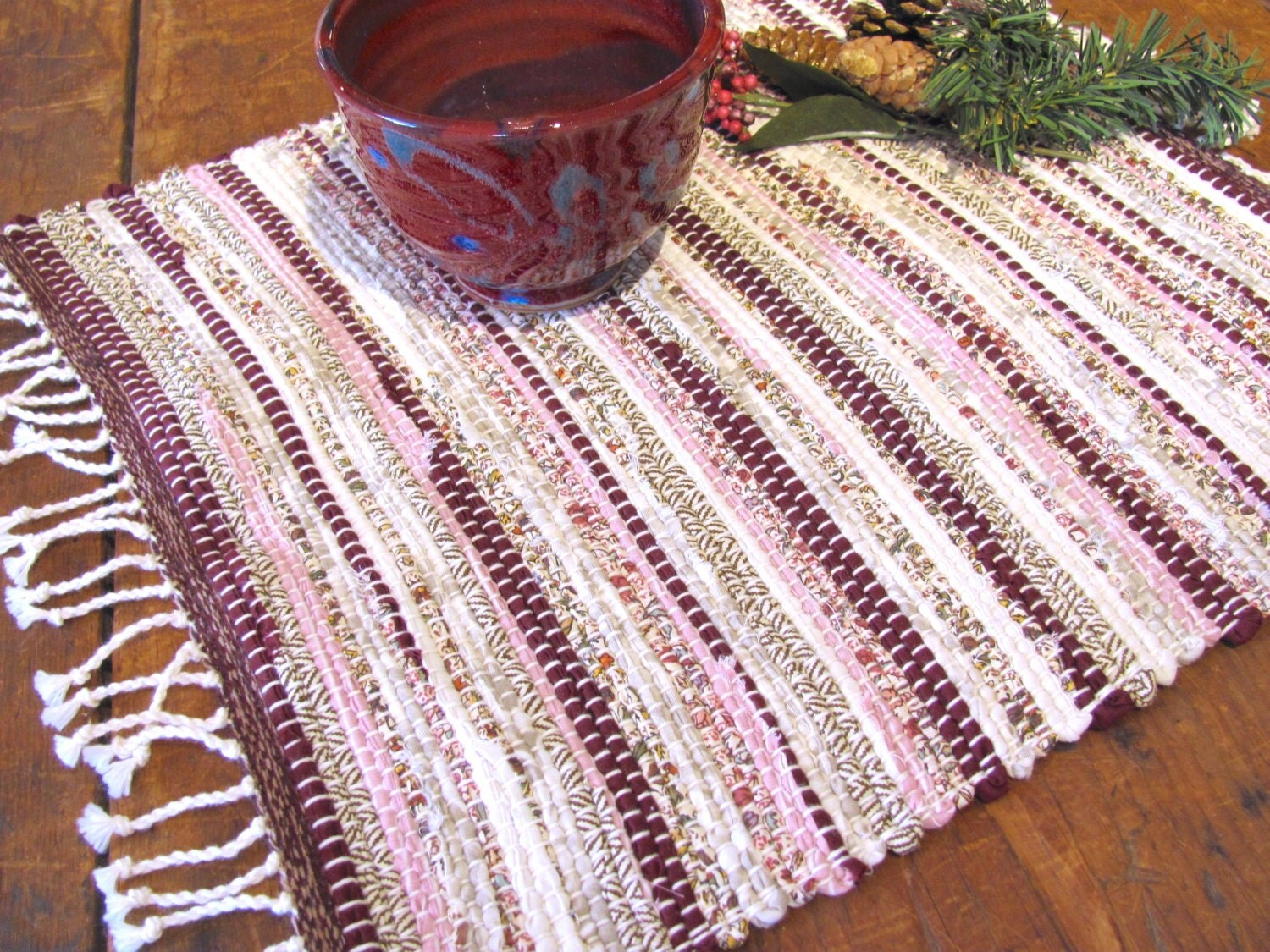 Rustic Red Decor Table Mat French Country Home Decor