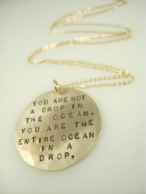Hand Stamped Quote Necklace - Handstamped Jewelry