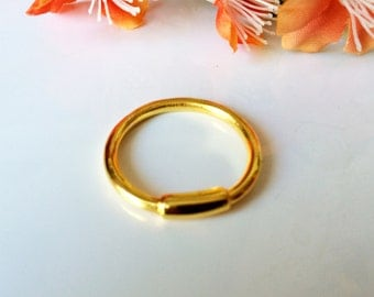 Stackable ring,Gold rolled ring,Midi ring,Knuckle ring,Large ring-High street jewelry,US Size 8,18K Gold plated