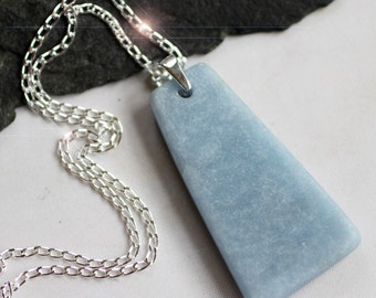 Nothing But Blue Skies -  Beautiful Angelite Sterling Silver Necklace