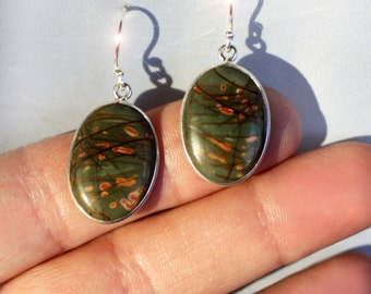 Natures Picasso - Picasso Jasper Sterling Silver Earrings