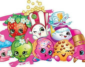 Edible Image - SHOPKINS Cake, Cookie OR Cupcake Toppers
