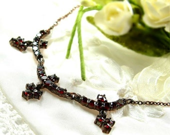 Decent Bohemian garnet necklace // ГРАНАТ 273WFL