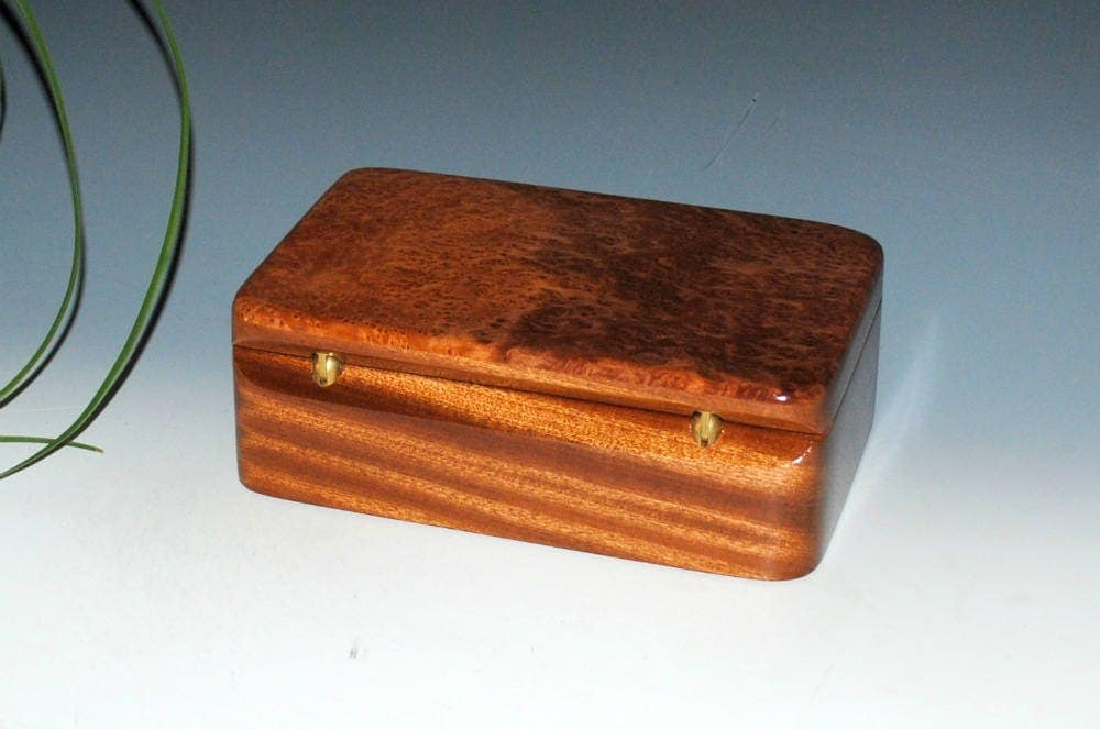 Handmade wood stash box wood box wood jewelry box for Jewelry box made of wood