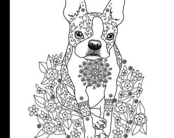 art of boston terrier coloring book volume no 1 physical book - Boston Terrier Coloring Page