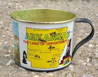 Vintage Arkansas Metal Mug