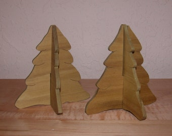 Pine Trees - Holiday Home Decor - Collapse for Storage - Two Little Christmas Trees
