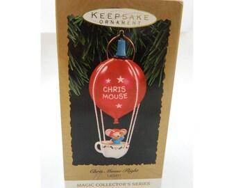 Vintage Chris Mouse Keepsake Ornament - Hallmark Magic Collector's Series - 1993