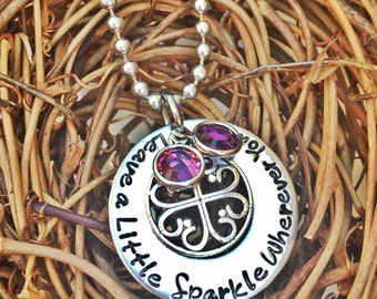 Personalized Hand Stamped Jamberry Necklace