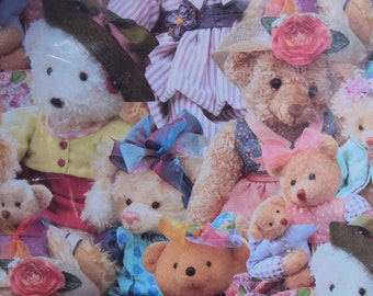 Bears, Bears, Bears, Gift Wrap, Wrapping Paper, Hallmark Gift Wrap, Children Gift Wrap, All Occasion Gift Wrap, 2 Sheets