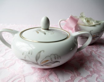 Vintage Cream and Sugar Set Kaysons Golden Rhapsody Gold and Platinum - Tea Parties