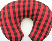 Lumberjack Nursery Plaid Baby Bedding Red Plaid Nursing Pillow for Boys Boppy Lounger Cover Minky Slipcover