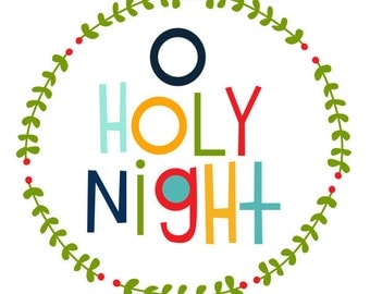 O Holy Night Christmas Print 8x10