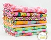 "Tabby Road - Marmalade Skies - Half Yard Bundle - 8 - 18""x44"" Cuts - Tula Pink - Free Spirit Quilt Fabric"