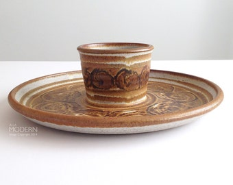 Wishon Harrell Large Chip and Dip Studio Pottery Platter Tray