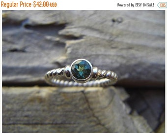 ON SALE Green amethyst ring handmade in sterling silver