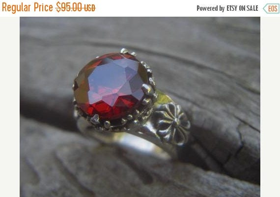 ON SALE Large medieval ring in sterling silver