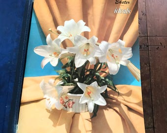 Vintage Ideals Holiday Magazines Lot of Six Binder Set, Easter, Christmas, Harvest, Children, Family, 1950s Poems, Illustrations