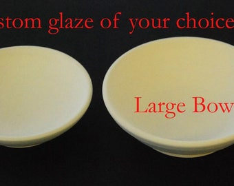 Food bowls - Large - Custom glaze of your choice