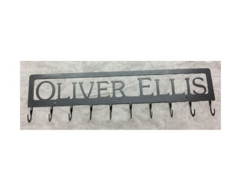 Coat Rack with Framed Name, 10 Hook