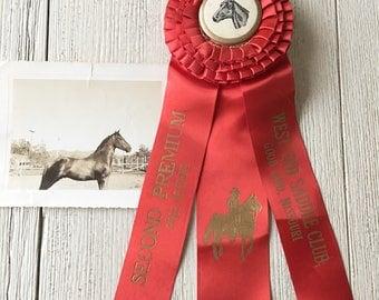 Horse Show Prize Ribbon Vintage Award Pole Bending