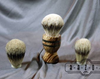 American Maple Burl Shaving Brush with Black Obsidian Inlay Choose your Badger Hair Brush Father's Day Gift Birthday Wet Shaving Ready2Ship