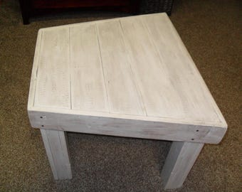 White Wash Wedge Table