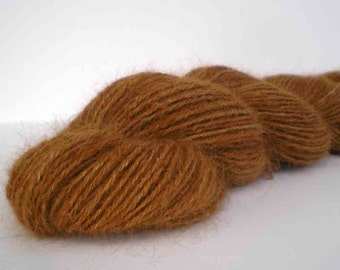 "186 Yds. Handspun &  Dyed Angora Rabbit Yarn  ""Butterscotch Rabbit"""