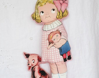 Vintage Look Cloth Stuffed Doll