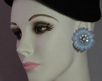 Sky Blue Flower Earrings
