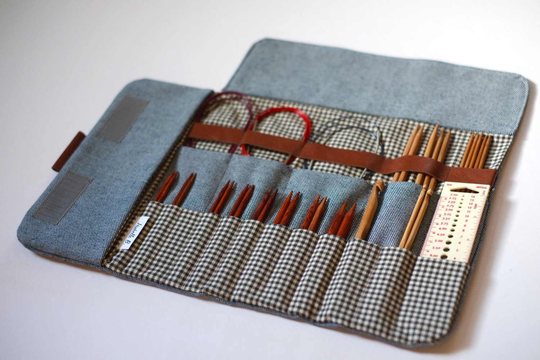 Knitting Needle Case Nz : Knitting needle case circular organizer