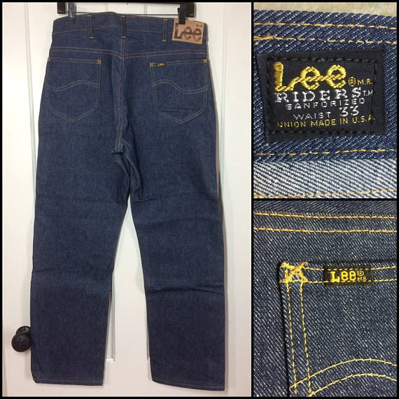 deadstock black side label Lee Riders 1960s