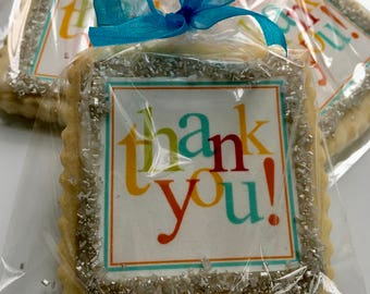 Thank You gift cookie favor