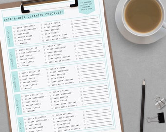 Cleaning PLANNER - 50+ documents - standard and half size included - Instant Download