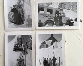 Original Vintage Ski Photos - Snapshot - Photograph - Collectible - Old Photo - Paper Ephemera - Timberline Lodge