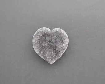 Natural Drusy Heart