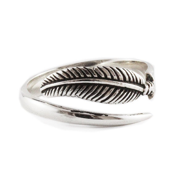 white gold ring 14k feather engagement rings