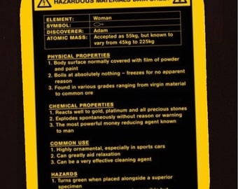 Refrigerator Magnet  (Woman msds)