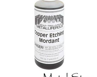 Copper Etching Mordant - 16 ounce bottle