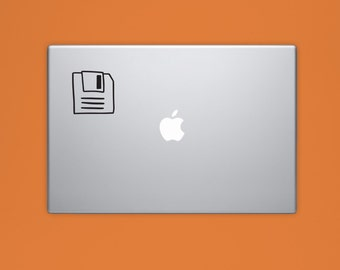New! - Floppy Disc VINYL Decal, Floppy Disk Decal, Illustrated Decal, Computer Decal, Vinyl Sticker