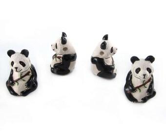 Peruvian Ceramic Large Panda Bead