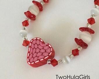 Boutique Bracelet...Custom... Hearts and Flowers