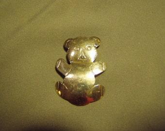 Vintage Native American Teddy Bear Pin Signed F RAMONE San Felipe Tribe  8841