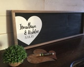 Wedding Guest Book Alternative - Rustic Wedding Sign - Wedding Guestbook - Personalized Wedding Sign - Wood Guestbook