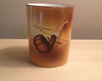 Vintage Nippon Hand Painted Pipe Accessory Holder