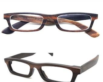 Christmas 30% OFF Love-wood Handmade Ebony Takemoto prescription customize  Eyeglasses