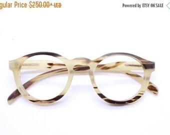 Christmas 30% OFF Only One  OX horn round handmade prescription sunglasses eyeglasses from TAKEMOTO